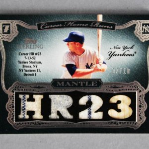 2007 Topps Sterling Mickey Mantle Game-Used Yankees Jersey Card Career Moments 2/10