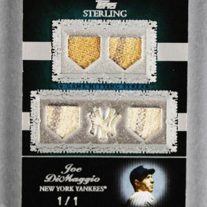 2007 Topps Sterling Joe DiMaggio Game-Used Yankees Jersey Card Prime 1/1