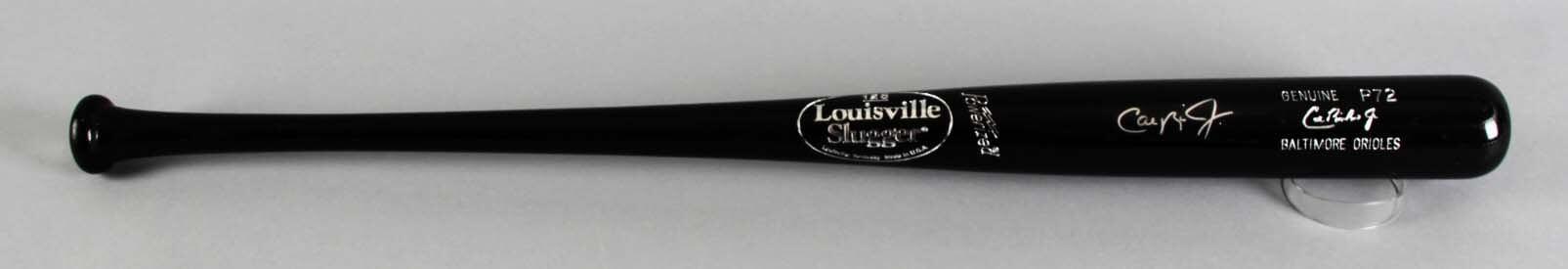Cal Ripken, Jr. Baltimore Orioles Signed Pro Model Baseball Bat - Player Hologram