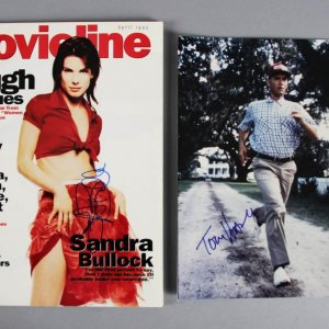 Sandra Bullock Signed Magazine & Tom Hanks Autographed 8x10 Photo - JSA