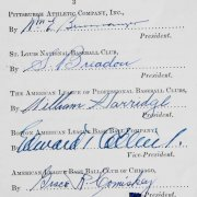 1945 MLB Document Establishing New Commissioner of Baseball Happy Chandler, Signed by All Team Owners & Both League Presidents -19 Signatures - Connie Mack, William Harridge, etc.- JSA Full LOA