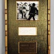Bruce Lee Signed Personal Check 15x25 Photo Display - JSA Full LOA