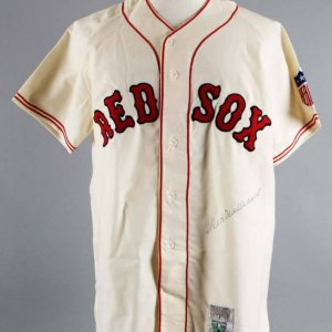 Ted Williams Signed Red Sox Mitchell & Ness Jersey (With Centennial Patch - JSA Full LOA