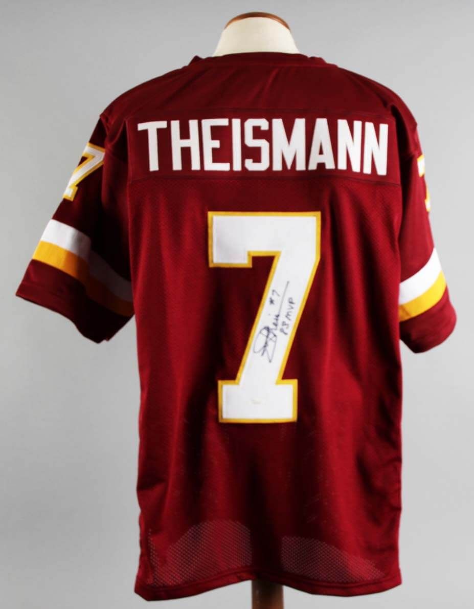 new style 9648e f793f Joe Theismann Signed Washington Redskins Jersey - COA JSA