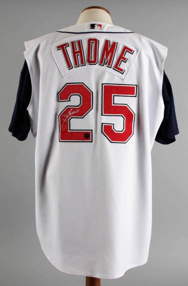 2002 Jim Thome Game Worn Cleveland Jersey Signed Coa