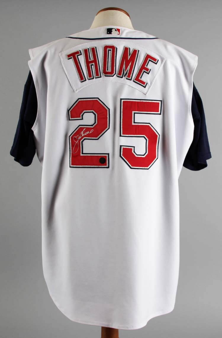 uk availability cb157 037a6 2002 Jim Thome Game-Worn, Signed Cleveland Indians Jersey