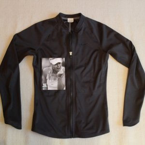 A Maria Sharapova Game-Used Custom Nike Tennis Jacket.  Includes Signed Photo Card.