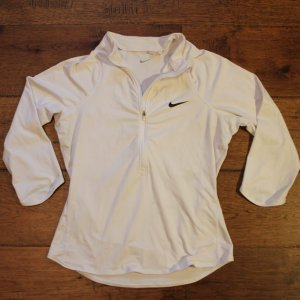 A Serena Williams Game-Used Custom Nike Tennis Warm-Up Top.  2015 US Open.