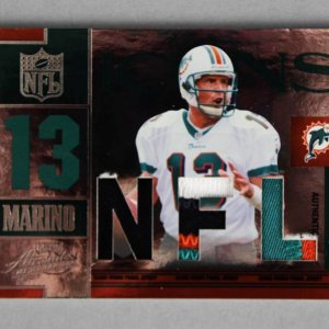 2007 Playoff Absolute Memorabilia Dan Marino Game-Used Dolphins Jersey Card 6/25