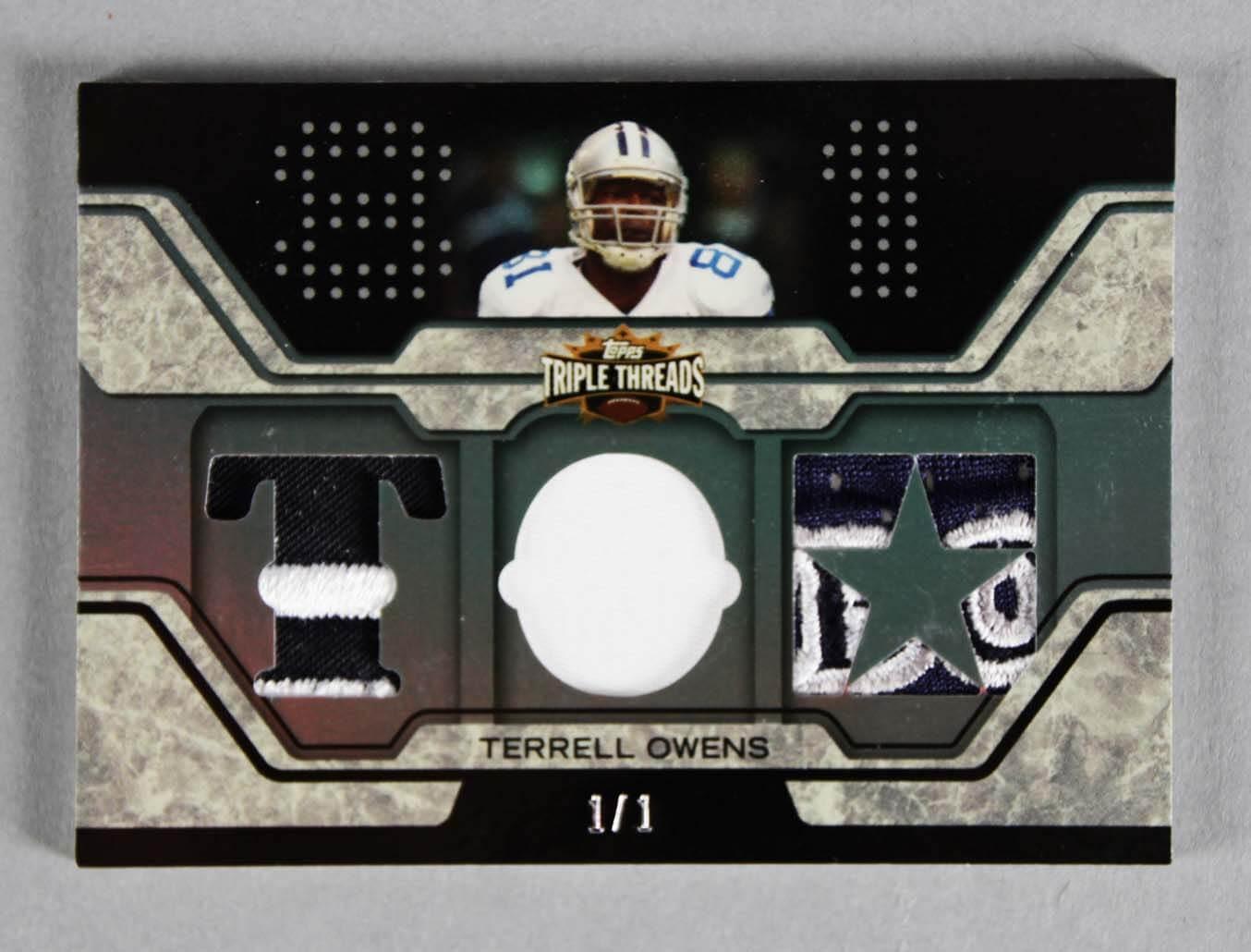 2008 Topps Terrell Owens Football Card  c1ced6267