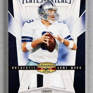 2008 Donruss Gridiron Gear Tony Romo Game-Used Cowboys Jersey Card Plates & Patches 68/100