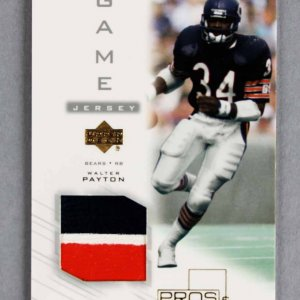 Walter Payton Bears Game-Used Patch Card 2001 UD