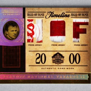 2006 National Treasures Joe Montana Game-Used 49ers Jersey Card Tag Timeline 2/25