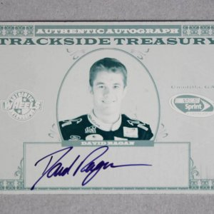 2008 David Ragan Signed NASCAR Trackside Treasury Press Plate Card Wheels 1/1