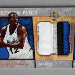 2006-07 UD Ultimate Collection Dwight Howard Game-Used Magic Jersey Card Premium Patch 25/50