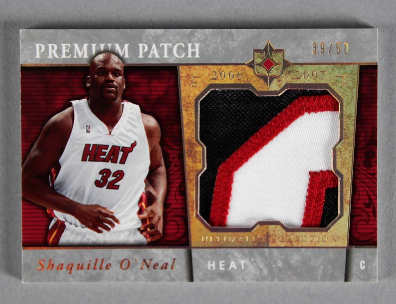 2006-07 UD Ultimate Collection Shaquille O'Neal Game-Used Heat Jersey Card Patch 39/50