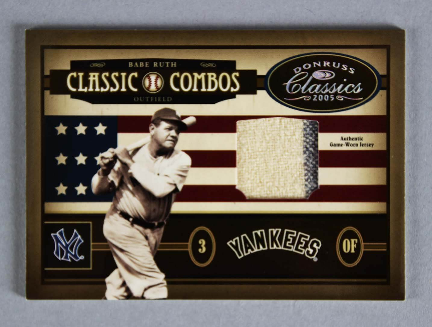Babe Ruth & Ted Williams  Card Game-Worn  5/5