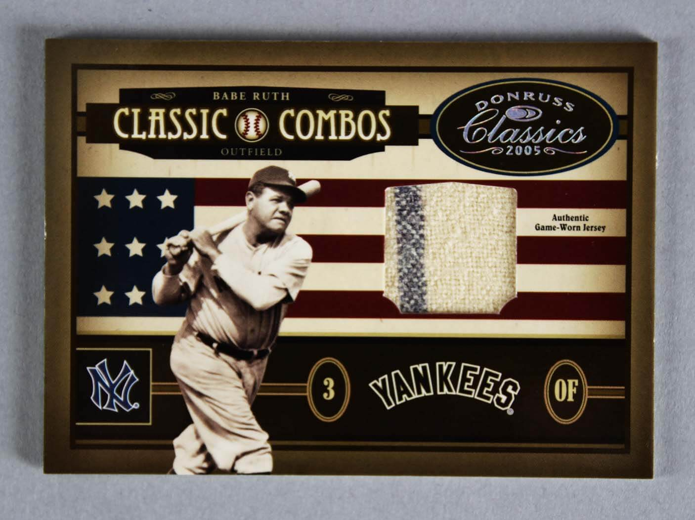 Babe Ruth & Ted Williams Jersey Card Combos 4/5