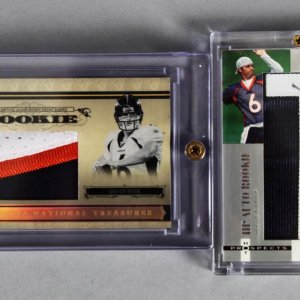 2006 National Treasures & Hot Prospects Jay Cutler Rookie Cards (incl. Auto Materials & Game-Used Jersey)