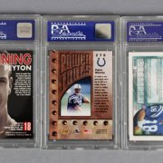 Peyton Manning Football Card Lot Incl. (3) PSA Graded Rookie Cards (RC) & 2006 Signed (Auto)