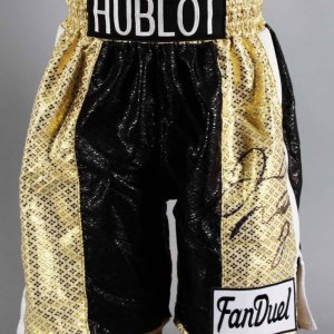 Floyd Mayweather Jr. Signed Boxing Trunks - JSA Full Letter