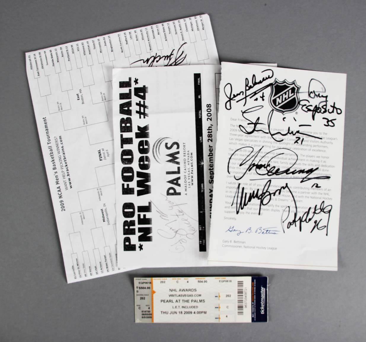 10 Sports Signed Items - OJ Simpson, Bob Knight, etc. - COA JSA