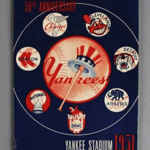 1951 New York Yankees Program vs. Boston Red Sox - Mickey Mantle Rookie Appearance