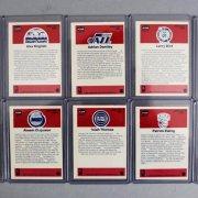 1986-87 Fleer Basketball Complete Set with Stickers Michael Jordan Rookie Card PSA Graded NM-MT 8