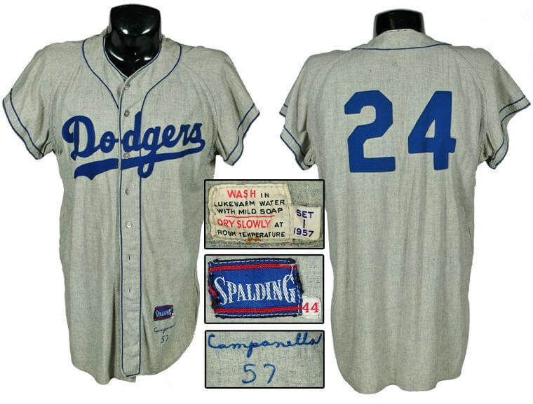 1957 Roy Campanella Brooklyn Dodgers Game-Used Flannel Jersey From His Final Season