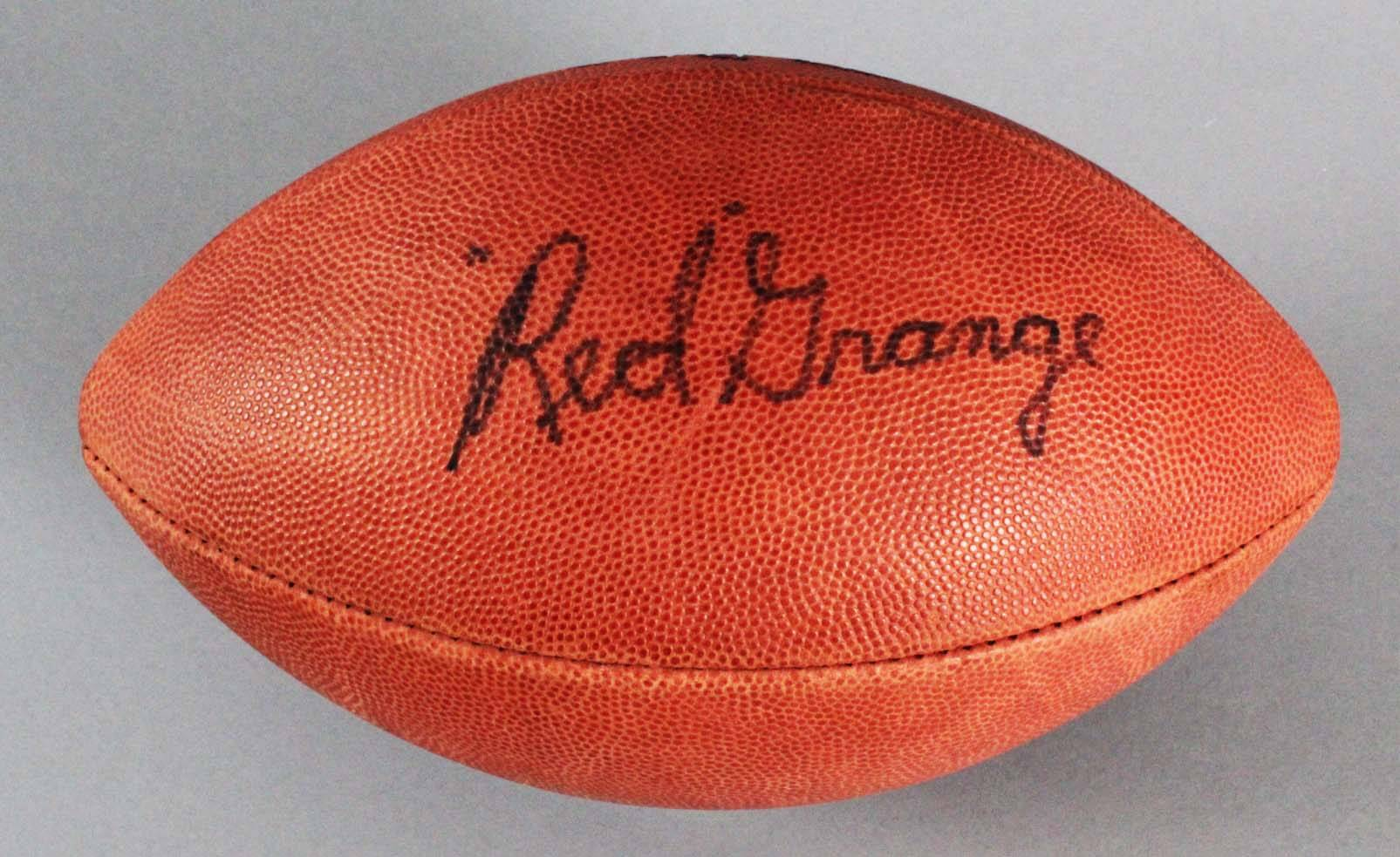 Red Grange Chicago Bears Signed ONFL (Rozelle) Football - SGC Full LOA