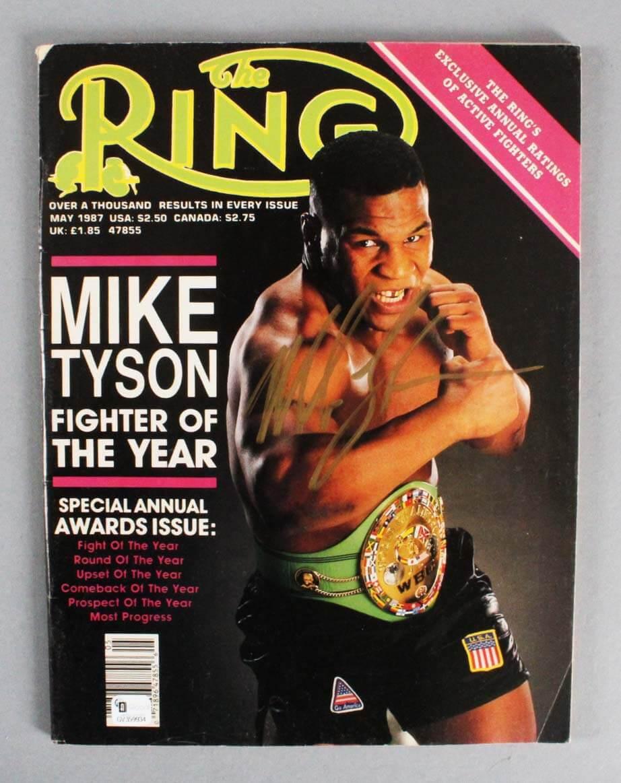 "Mike Tyson Signed ""The Ring"" Boxing Magazine - JSA"