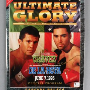 June 7, 1996 Julio Cesar Chavez vs. Oscar De La Hoya Signed Program - JSA