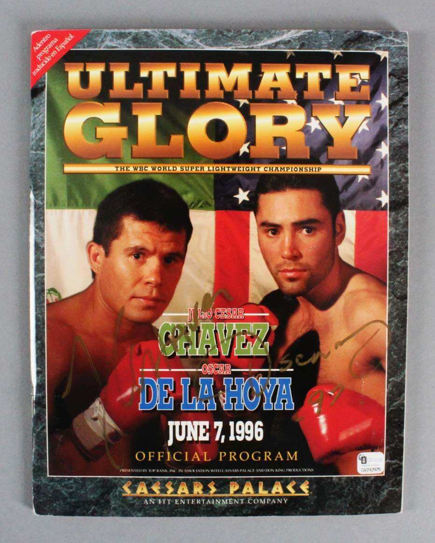 June 7, 1996 Julio Cesar Chavez vs. Oscar De La Hoya Signed Program - JSA