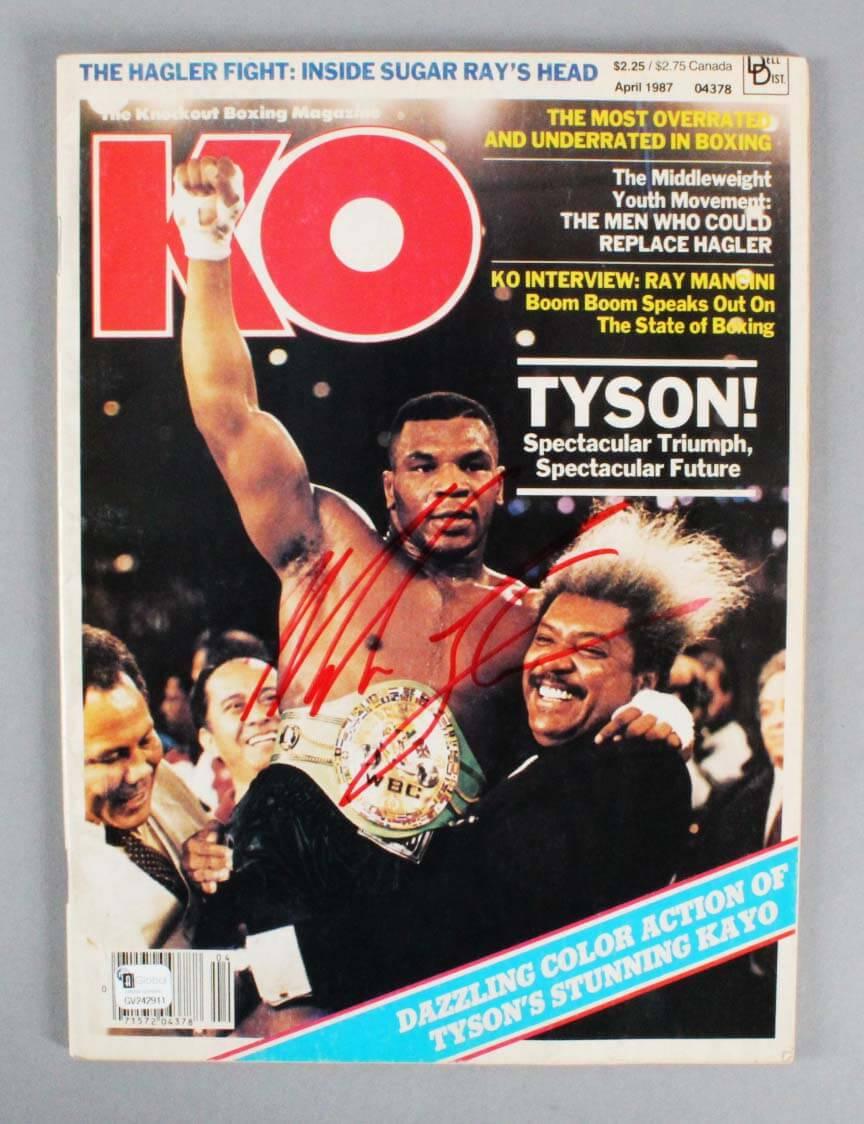 Mike Tyson Signed KO Magazine - JSA