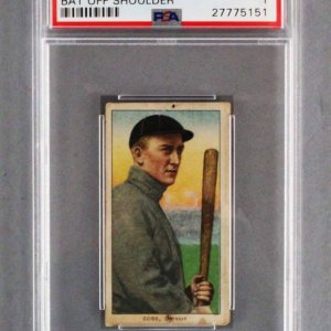 1909 T206 Ty Cobb Card Piedmont Tobacco 350 (Baseball Bat Off Shoulder) Graded PSA PR 1