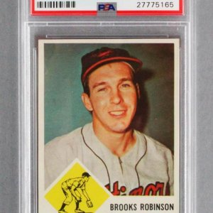 1963 Fleer Brooks Robinson Baseball Card - #4 Orioles Graded PSA NM-MT 8