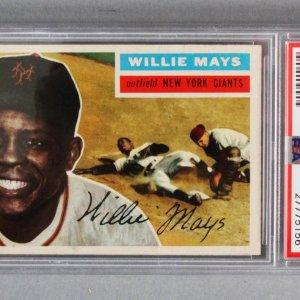 1956 Topps Willie Mays Baseball Card #130 (Gray Back) Giants - Graded PSA EX 5