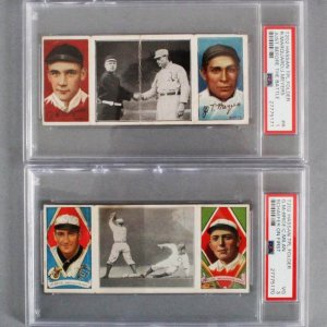 1912 T202 Hassan Triple Folder PSA Graded Card Lot - Marquard/Meyers & McBride/Milan