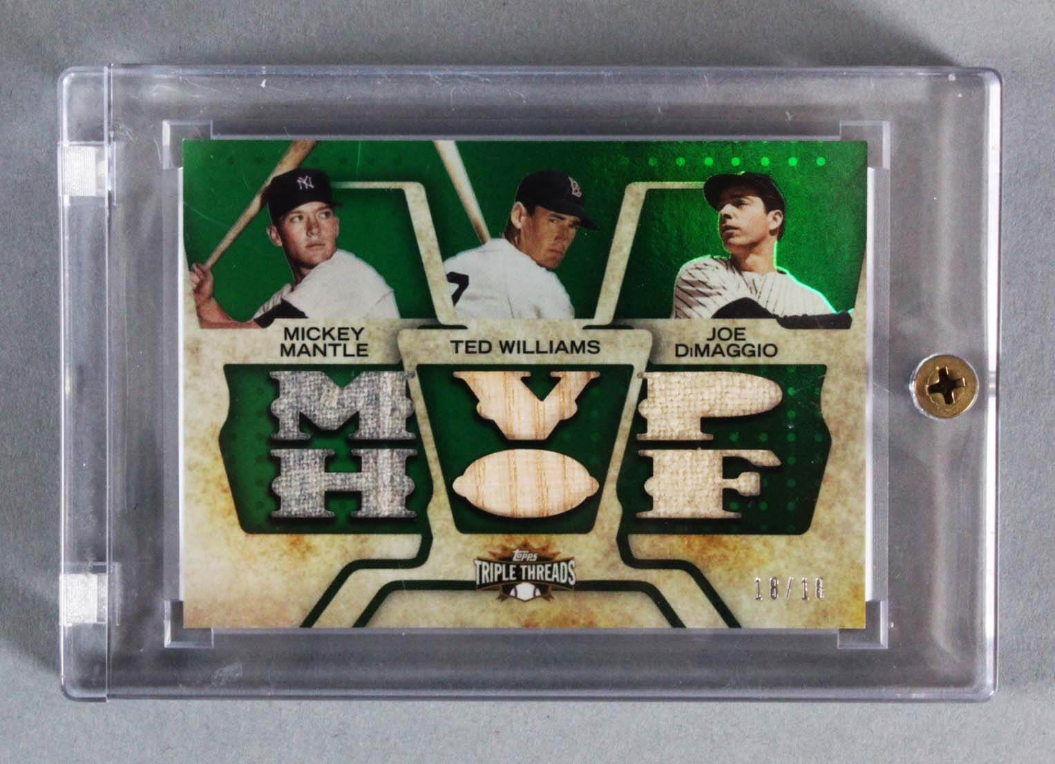 best website 59564 60190 2008 Triple Threads Mickey Mantle, Ted Williams, Joe DiMaggio Game-Used  Jersey Bat Card Relic 18/18