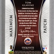2006 UD Exquisite Collection Tom Glavine Game-Used Mets Jersey Card Patch 13/25
