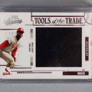 2005 Playoff Absolute Memorabilia Lou Brock Game-Worn Jacket Card 1/5