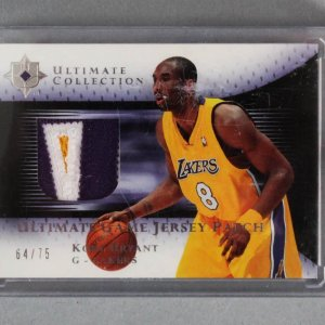 2005-06 UD Ultimate Collection Kobe Bryant Game-Used Lakers Jersey Card Patch 64/75