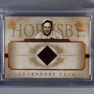 2005 SP Legendary Cuts Rogers Hornsby Game-Used Jacket Card 75/75