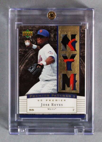 2007 UD Premier Jose Reyes Game-Worn New York Mets Jersey Card 7/7