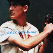 Boston Red Sox - Ted Williams Signed Arthur Griffin 11x14 Color Photo - JSA