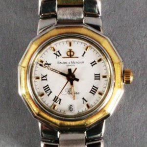 Baume Mercier Riviera Watch Ladies-Stainless Steel-Used