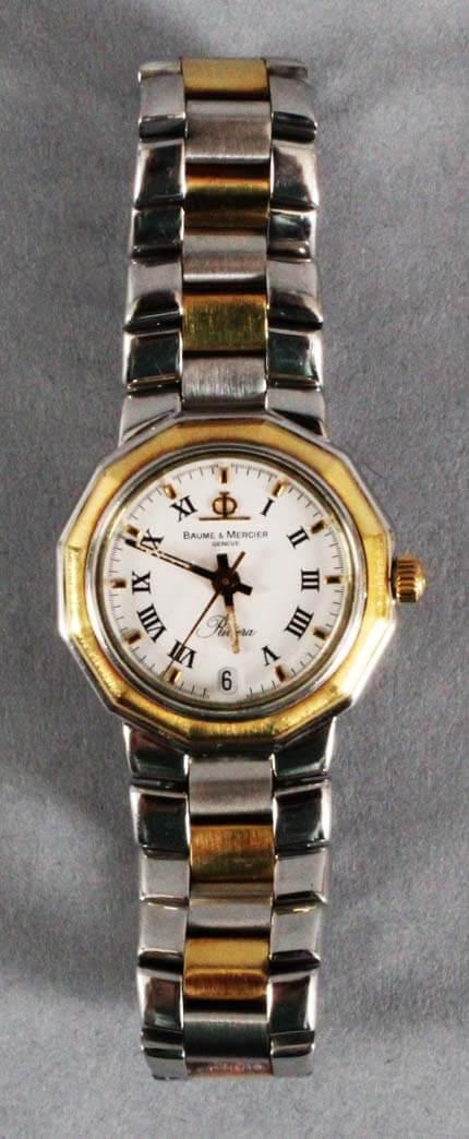 Baume Mercier Riviera Watch Ladies-Stainless Steel-Used