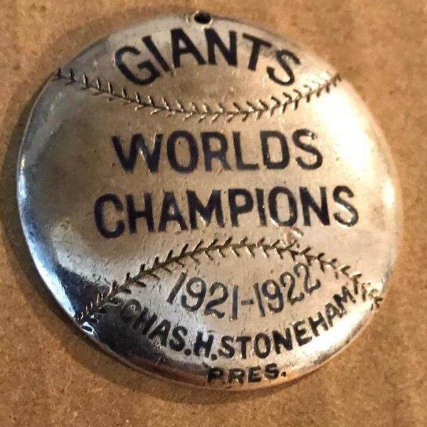 1923 New York Giants Season Pass Baseball By Lambert Brothers (Sterling Silver)