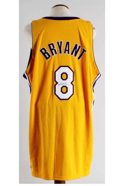best sneakers 1e3b7 11f5a Kobe Bryant Game-Worn, Signed Los Angeles Lakers Jersey - JSA Full LOA &  100% Team Grade:14/20