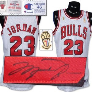 1996-97 Michael Jordan N.B.A. Finals Game Worn and Signed Jersey.